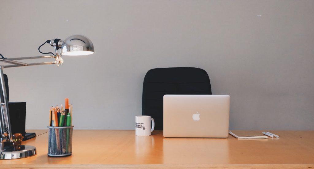Photo of a laptop on a desk
