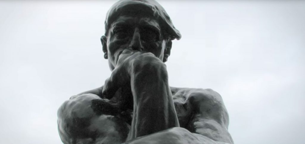 Photo of the statue The Thinker