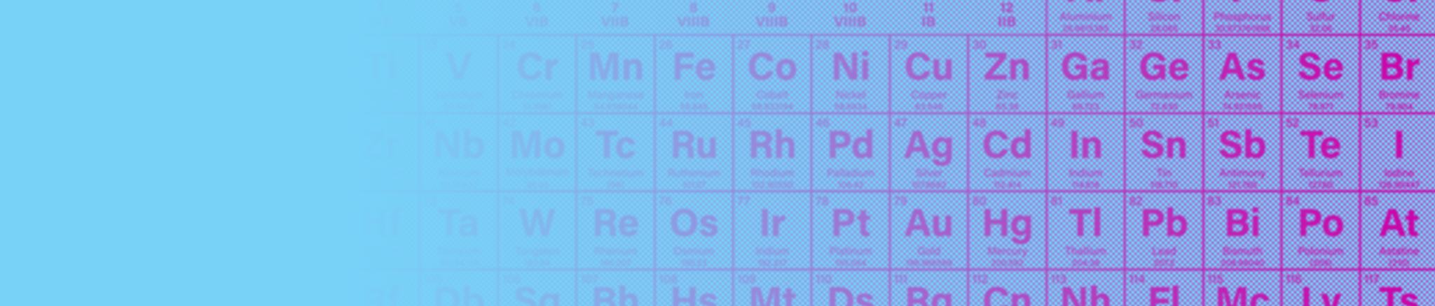Illustration showing the periodic table of elements